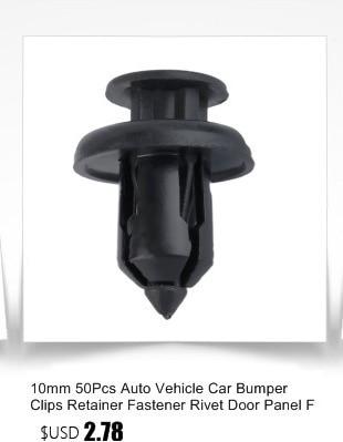 10x Clips pour Toyota Corolla Porte Panneau De Retenue Bordure en plastique blanc Fastener