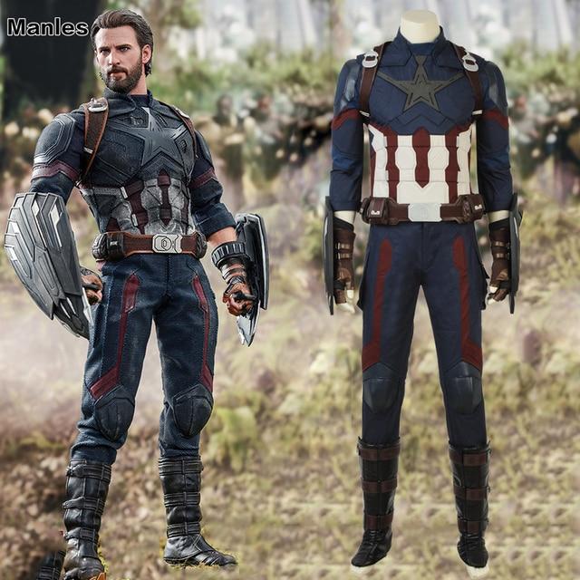 avengers infinity war costume captain america steve rogers cosplay
