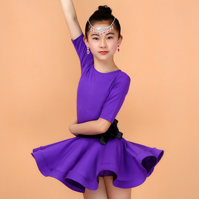 2890f3a39625 Girl Latin Dance Dress Tango Clothes Rumba/Samba Clothing Child Salsa  Dresses Kids Stage Wear Costumes Ballroom Tutu Dancing