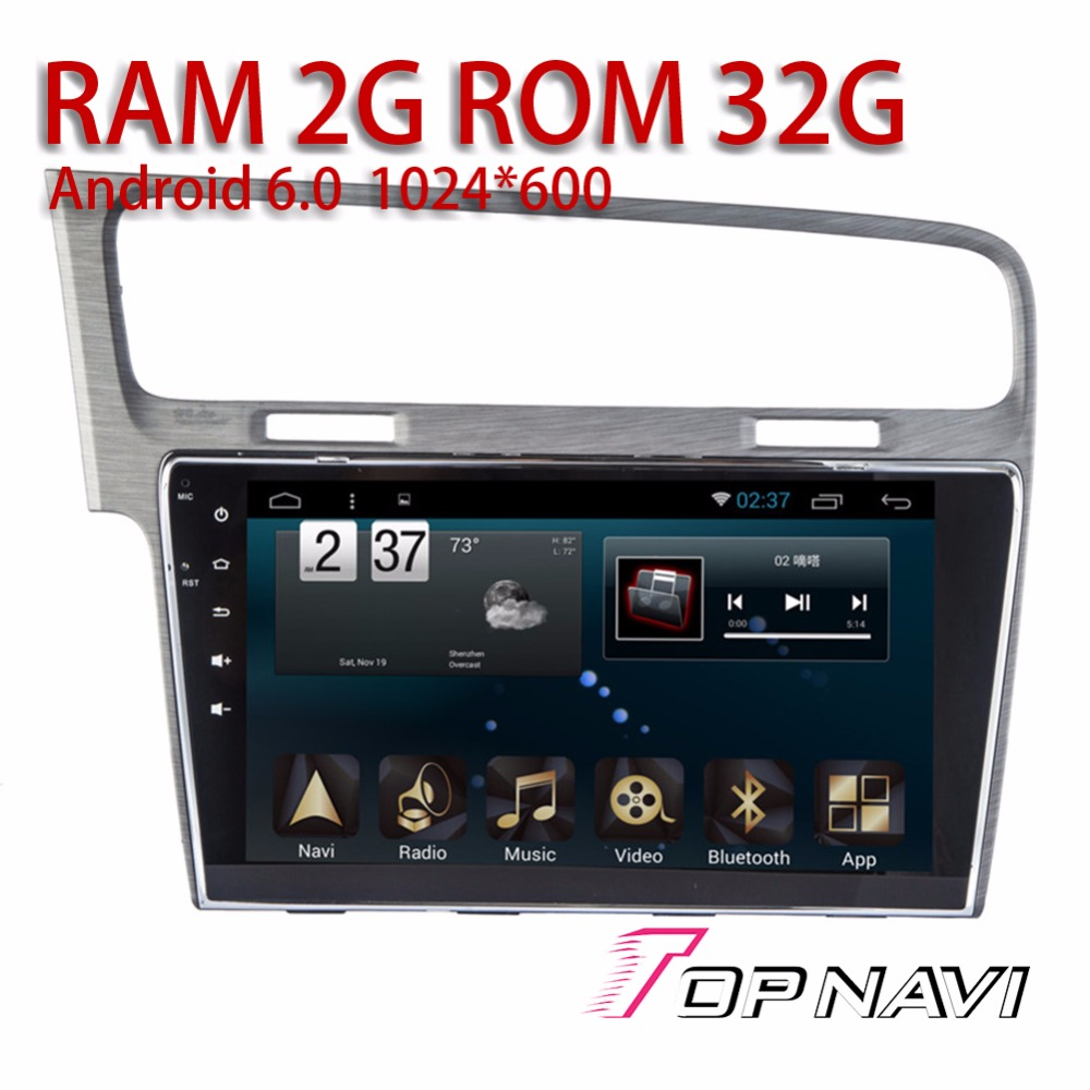 Vehicle Radio Tuner for VW Golf 2014 2015 2016 Android 6 0 10 1 WANUSUAL Auto