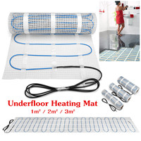 150w 220V Floor Tile Warming Underfloor Heating Mat Dual Core Electric Film Glass Fiber Mesh Indoor Insulation 600N Easy Install