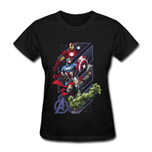 Fashion Women's Tshirts Crewneck Full Cotton Infinity War Avenger Superhero Spiderman T Shirt Leisure Tops Tees Back To Future