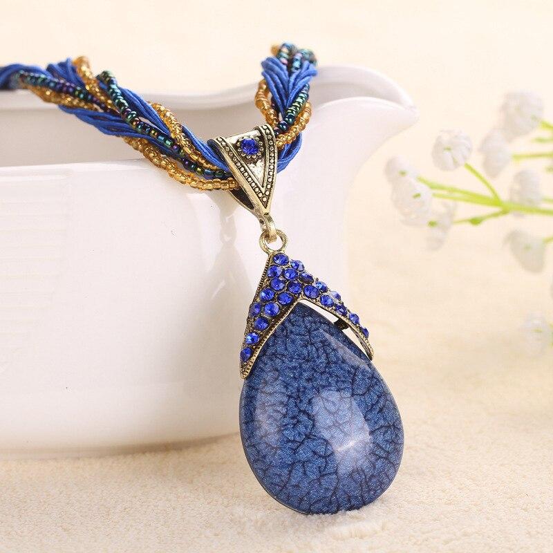 47 cm Handgemachte Vintage Ethnische Halskette Perlen Original Design - Modeschmuck - Foto 2