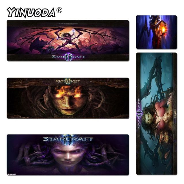 Yinuoda Simple Design Starcraft Game Rubber Desktop Mousepad Size for 180*220 200*250 250*290 300*600 and 400*900*2mm