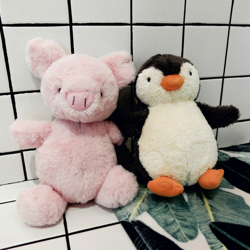 INS Baby Appease Plush Doll cute Soft Penguin Pink Pig Stuffed Plush Toy Kids Sleeping Toy gift for girls children 18/25/45cm