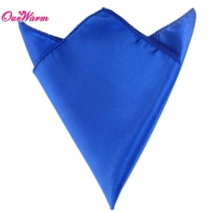 OurWarm 50 шт. атласная ткань салфетки для стола квадратная карманная салфетка для ресторана отеля банкета свадебного стола 30*30 см - Цвет: DBU
