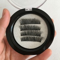 Wholesale 10 boxes New Fashion 3D Mink Magnetical Eyelashes Winged Wispies Cross Thick Magnetic Lashes Saving Time Makeup