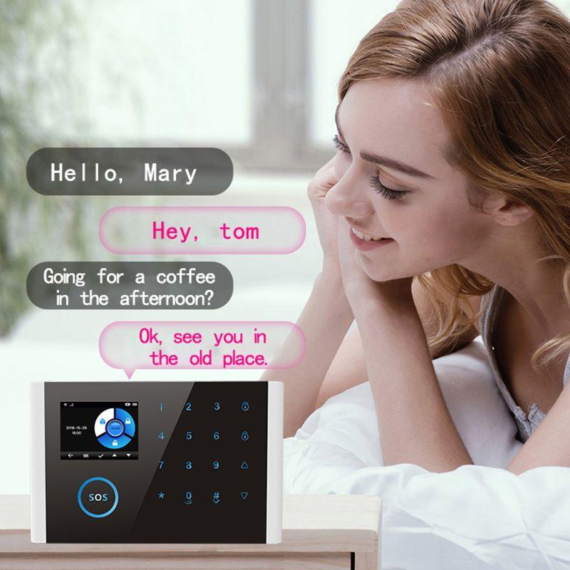 1Set CS108 Drahtlose WIFI GSM GPRS Smart Alarm System APP Fernbedienung RFID Karte Home Security Kit mit Bunten bildschirm SOS - 5