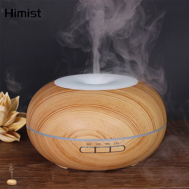 Wood Grain Essential Oil Diffuser 300ml Ultrasonic Air Humidifier With 7 Colors Changing LED Aroma Lamp For Home Office SPAWood Grain Essential Oil Diffuser 300ml Ultrasonic Air Humidifier With 7 Colors Changing LED Aroma Lamp For Home Office SPA