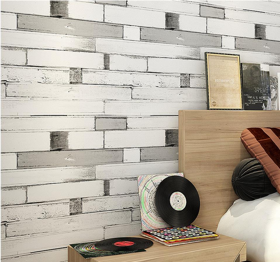 ФОТО Mediterranean-style living room wallpaper retro retro wood to do the old wallpaper vertical striped wallpaper