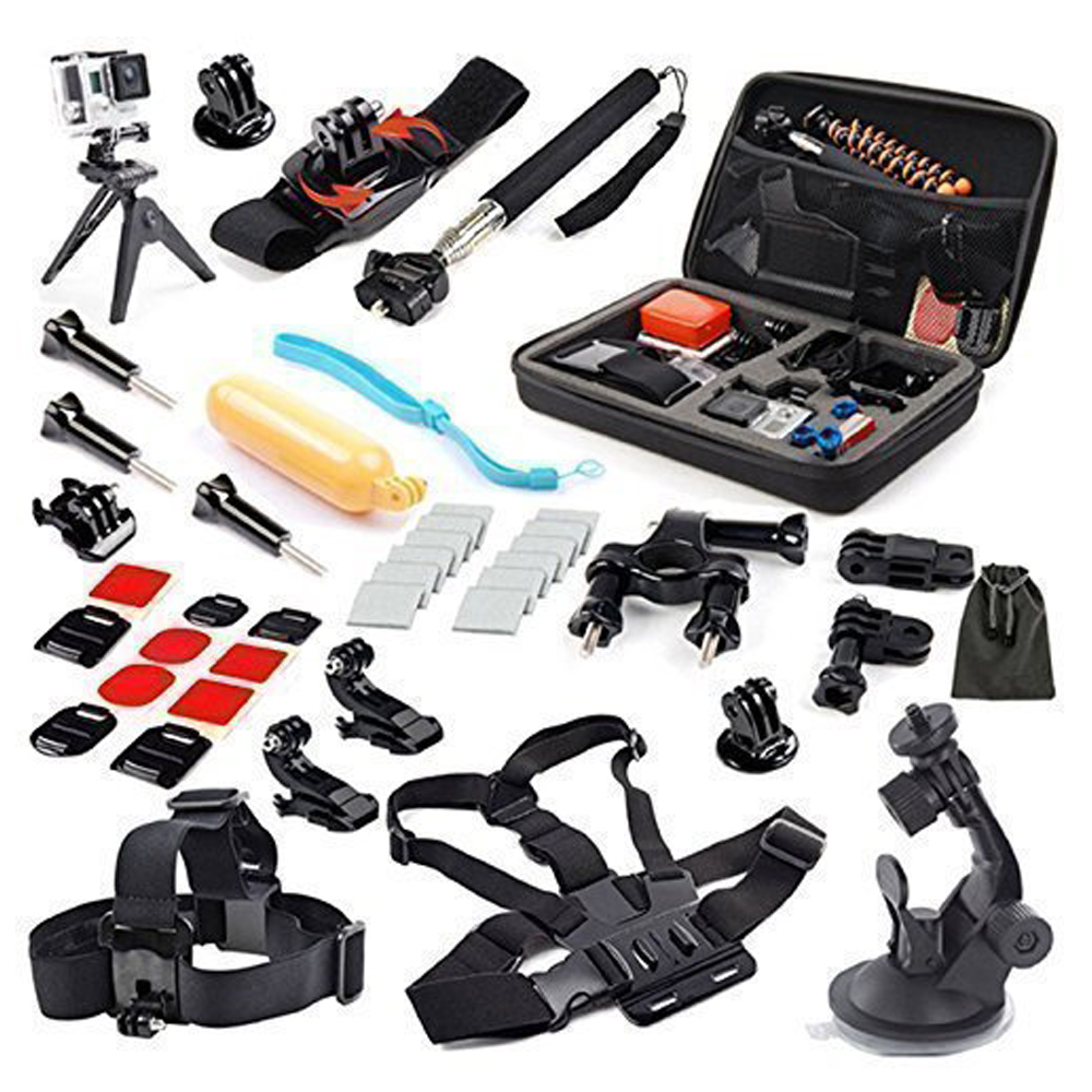 SHOOT 31 in 1 Accessories Kit with Storage Case Head Chest Strap Mount for GoPro Hero