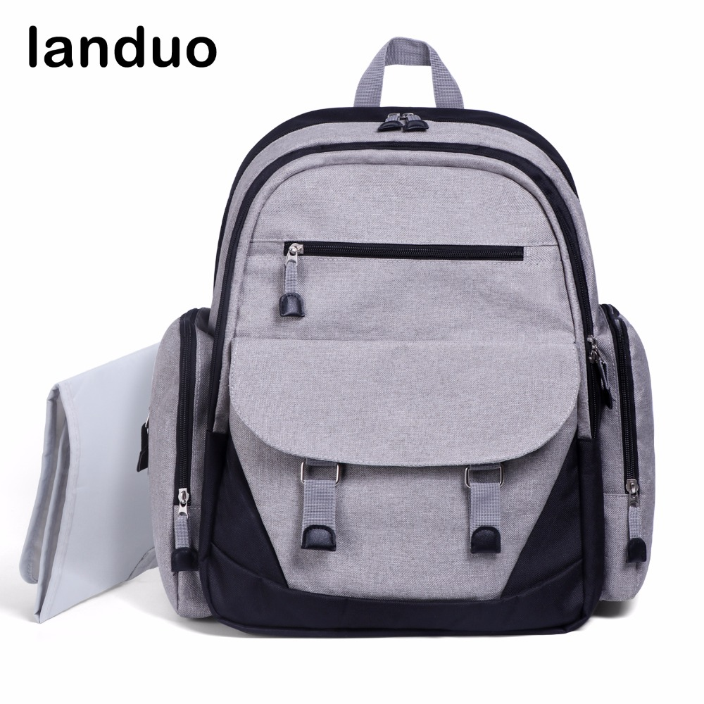 landuo LAND Diaper Bag Big Size Maternity Bag For Mummy And Baby Stroller Design Baby Care Nappy Bag Nursing Backpack все цены