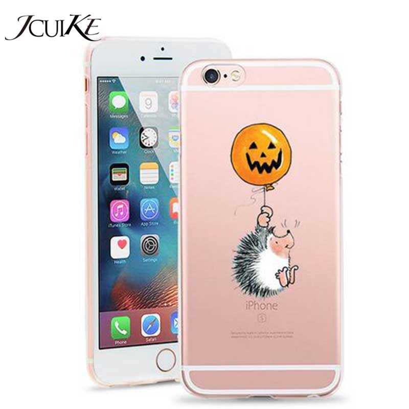 Halloween Hedgehog For iPhone X Case TPU Soft Case Cover