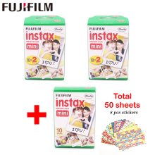Genuine Fujifilm Instax Mini Film White Edge 50 Sheets For Fuji Instax mini 8 7s 25 50 90 SP1 Instant Camera Photo Film Paper