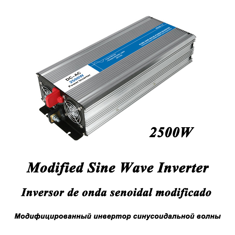 DC-AC 2500W Modified Sine Wave Inverter,LED Digital Display,with USB,DC to AC Frequency Converter Voltage Electric Power Supply dc ac 1000w pure sine wave inverter 12v to 220v converters voltage off grid electric power supply led digital display usb china