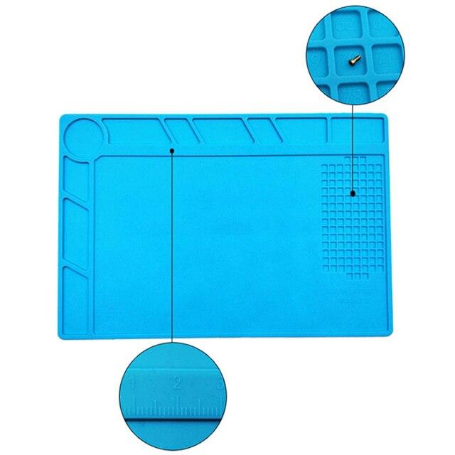 Plataforma de mantenimiento antiestática magnética de 34x23 cm de silicona para reparación de teléfono móvil