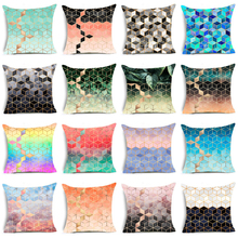 Elife Bohemia geometry Linen cotton Aqua Rainbow cushion case Polyester Bedroom Decorative Sofa Car Throw Pillows Home Decor