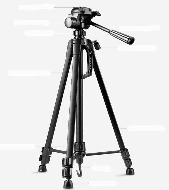 Profissional tripé para Câmera Filmadora tripé WF-3520 Preto tripe extensor parágrafo foto com alça de cabeça