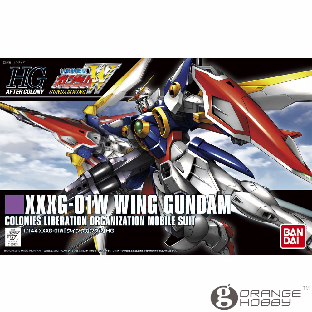 OHS Bandai HGUC 162 1/144 XXXG-01W Wing Gundam Mobile Suit Assembly Model Kits bandai bandai gundam model sd q version bb 309 sangokuden wu yong bian xiahou yuan battle