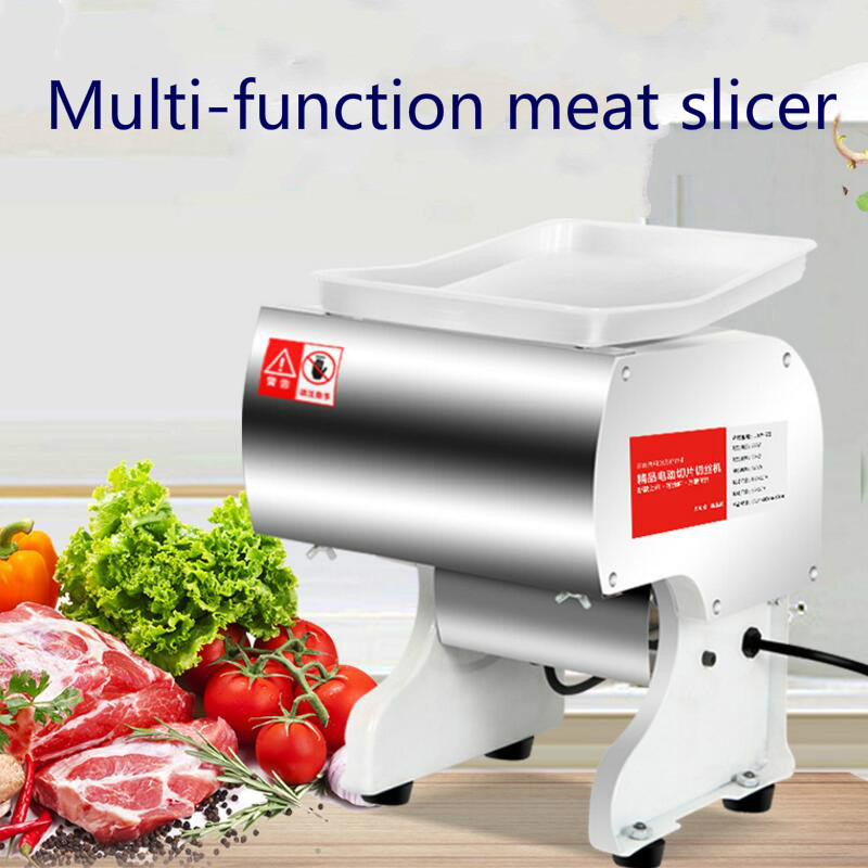 Multifunction Cow  pork  pork Household Small electric Meat slicer stainless steel Slice cutter Fully automatic Cut diced meat|Meat Grinders| |  - title=