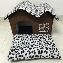 Dalmatians color Dog bed Removable rooftop dog house kennel pet house small dog beds mats cat bed lovely Pet products