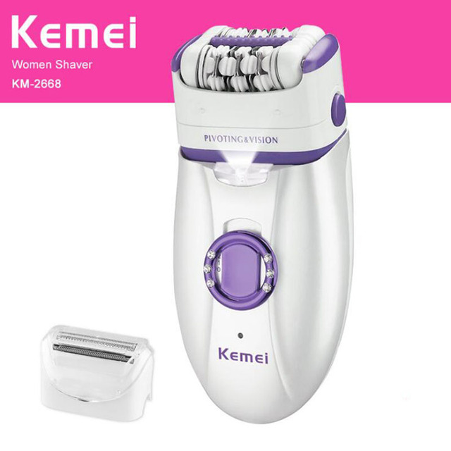 Kemei 2 in 1 Electric Epilator For Women Shaver Body Depilation Female Rechargeable Epilators Depilatory Hair Removal