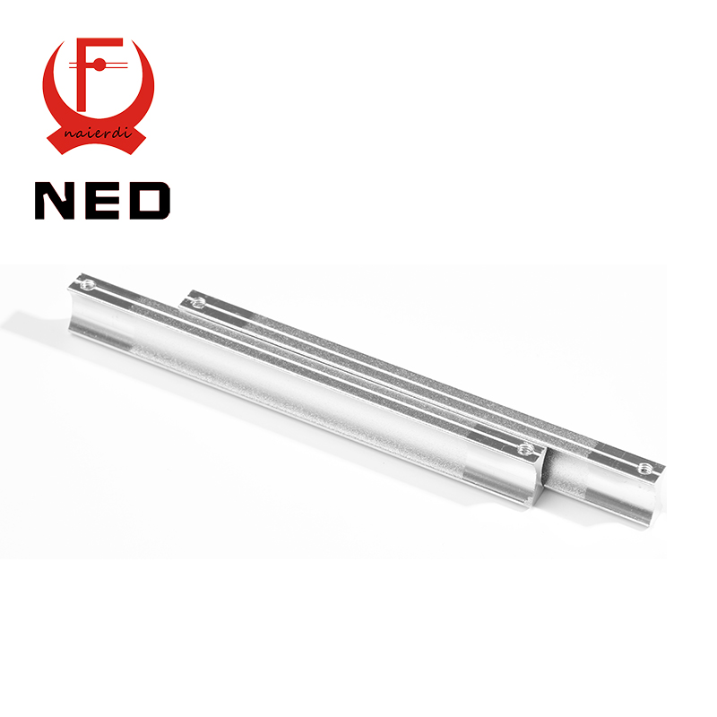 4PCS NED 128MM Aluminum Handles Kitchen Door Cupboard Modern Wardrobe Handle Drawer Pulls Cabinets Knobs With Screws