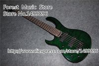 Best Price For The Left Handed 5 String Dard Green Quilted Top Electric Bass Guitars From