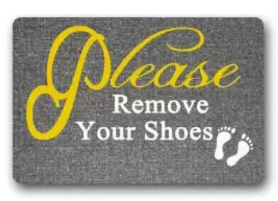2017 New Custom Please Remove Your Shoes Door Mat Art Design Pattern