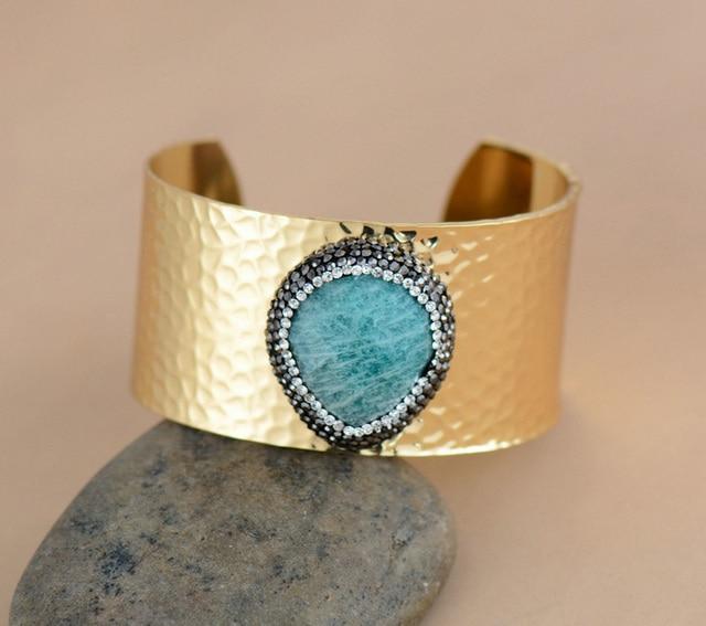Cuff Bracelet Gold Color...