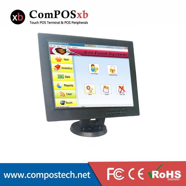 Бесплатная Доставка Композитов 12 Дюймов 800*600 VGA Сенсорный Монитор Пк/Сенсорный Монитор/pos Сенсорный Монитор
