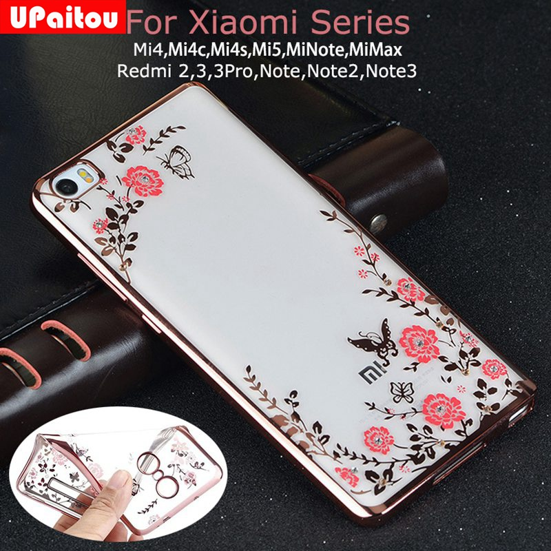 Upaitou Flower Diamond Tpu Case For Xiaomi Mi 6 5s Plus 5c