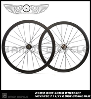 Free Shipping 700C 38mm Clincher Carbon Wheelset Disc Brake Wheels Road Cyclocross Bike Bicycle Disc Brake