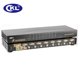CKL 8 puertos USB PS/2 DVI KVM Switch soporte Audio Auto Scan PC Monitor Mouse DVR NVR Switcher 1080P (CKL-9138D)
