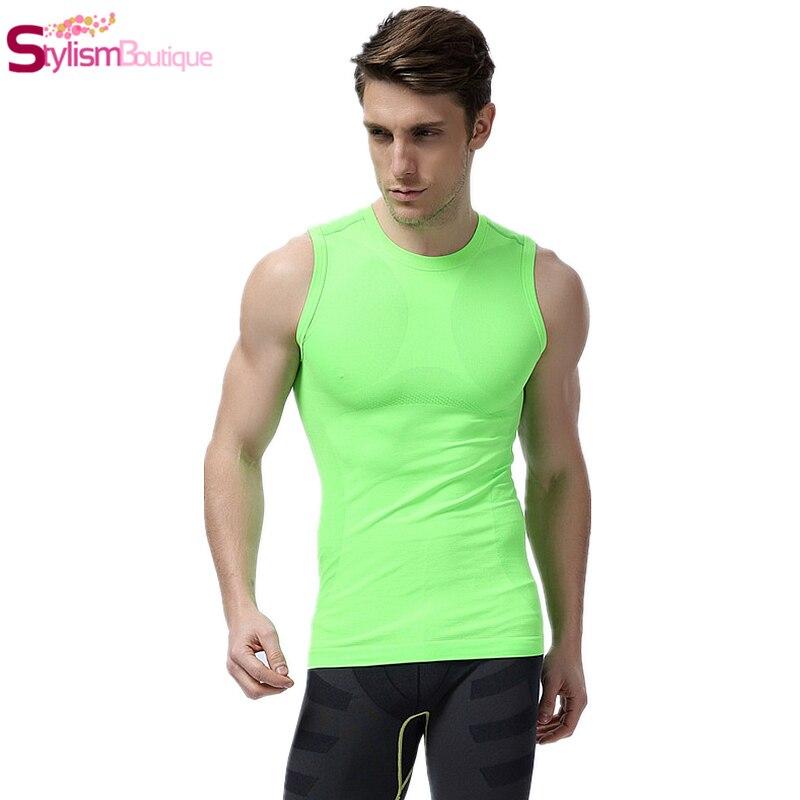 fba9e848875cb3 2016 Fashion Bodybuilding Tank Top Men s Gym Tops Fitness Singlets Crossfit  Stringer Waist Training Slimming Underwear Shirt