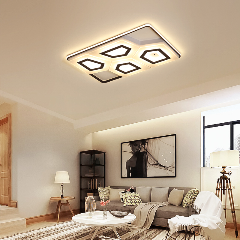 Iralan Led Ceiling Light Modern Design Living Room Bedroom Kitchen Dining Room Lighting Fixture Panel Remote Control Icfw1903 Sturdy Construction Ceiling Lights & Fans