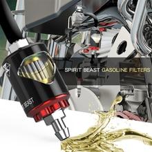SPIRITO BESTIA Moto Filtro Olio Combustibile Benzina Diesel Gas Sport Scooter Motocross per HONDA KTM SUZKI YAMAHA Triumph Benelli BMW