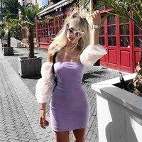 Nibber Летние Элегантные без бретелек облегающие Мини платья женские вечерние сексуальные кружевные рукава вязаные Повседневные платья mujer