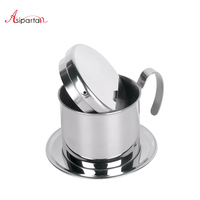 Asipartan Vietnam Style Stainless Steel Coffee Dripper Filter Espresso Strainer Cup Reusable Metal Filters For Cafe Barista Tool