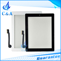 10 pcs free shipping new replacement front panel for ipad 3 touch screen digitizer with home button with adhesive black white