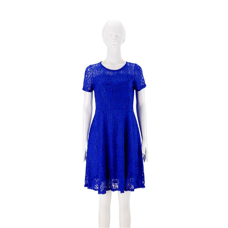 Casual Noir 50 Courtes 5xl Taille rouge Slim Partie Plus bleu Élégantes Manches La Floral blanc Femmes Pcs lot Robe Mini À Dentelle Robes YEWI29DH