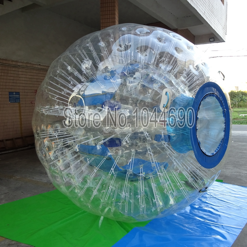 Top quality 2.5m Dia zorb ball track,ball light for event inflatable zorb ball race track pvc go kart racing track for sporting party