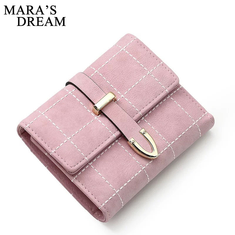 Mara's Dream 2018 Women Short Wallets PU Leather Plaid Purses Zipper Card Holder Fashion Woman Small Zipper Wallet Coin Purse new multifunction man wallets 3 colors mens pu leather zipper business wallet card holder pocket purse hot plaid pouch fashion
