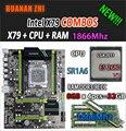 HUANAN ZHI V2.49 X79 placa base LGA2011 ATX combos E5 2680 v2 SR1A6 4x8G, 32 GB 1866 Mhz USB3.0 SATA3 PCI-E NVME M.2 SSD