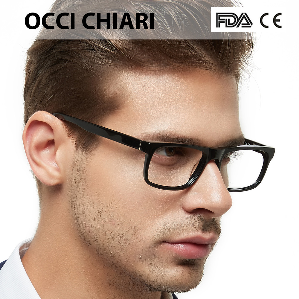 Men's Optical Glasses 2018 Fashion Black Anti-blue Light Classic Frame Demi Man Eyeglasses Frames Spring Hinge OCCI CHIARI MELE
