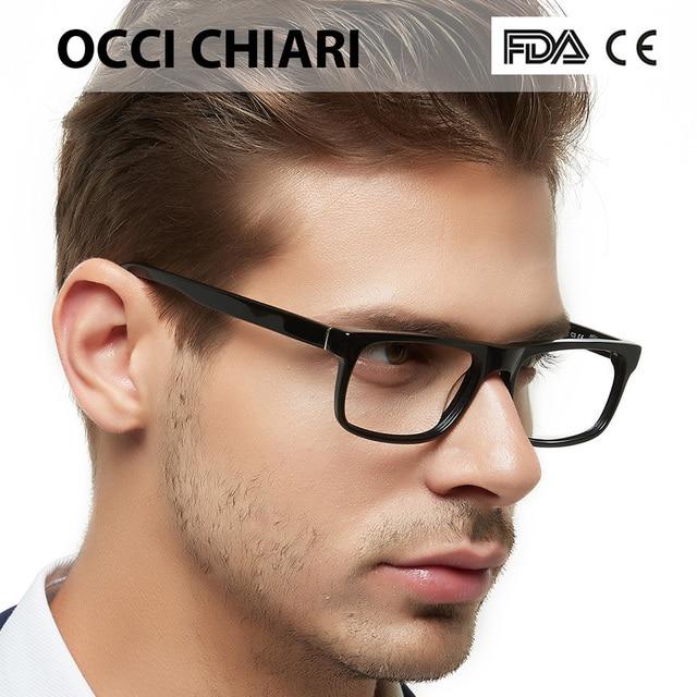 75a1b544fb6a Men s Optical Glasses 2018 Fashion Black Anti-blue light Classic Frame Demi  Man Eyeglasses Frames Spring Hinge OCCI CHIARI MELE