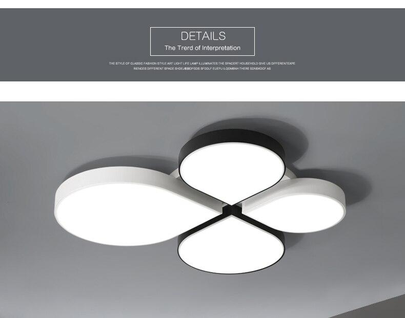 Plafoniere Moderne Led : Weiß schwarz led deckenbeleuchtung lampen für die wohnzimmer