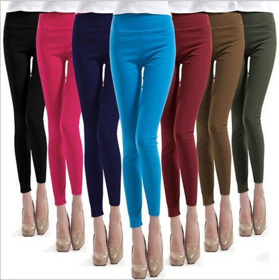 Free shipping Women High Waist Pants Stretch Sexy Pencil Slim Fit Skinny Jeans Trousers