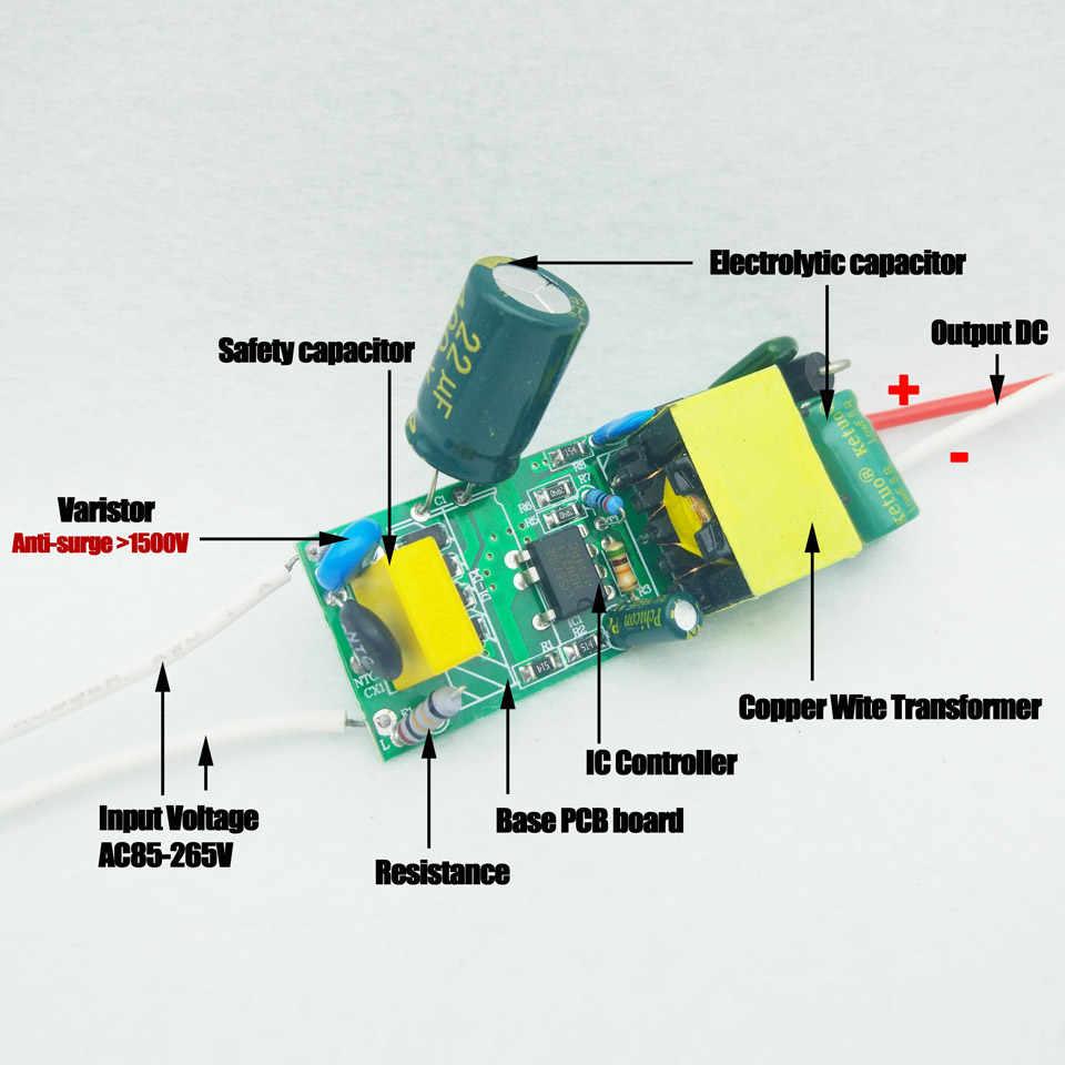 1-36W LED Driver Input AC110V/220V Lights Power Supply Constant Current on