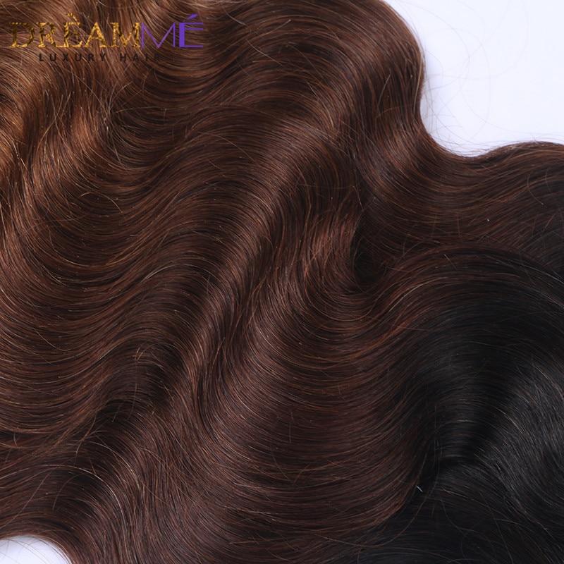 # 1B / 4/30 Barva Body Wave 3 snopi Ombre Brazilski človeški lasje - Človeški lasje (za črne) - Fotografija 5